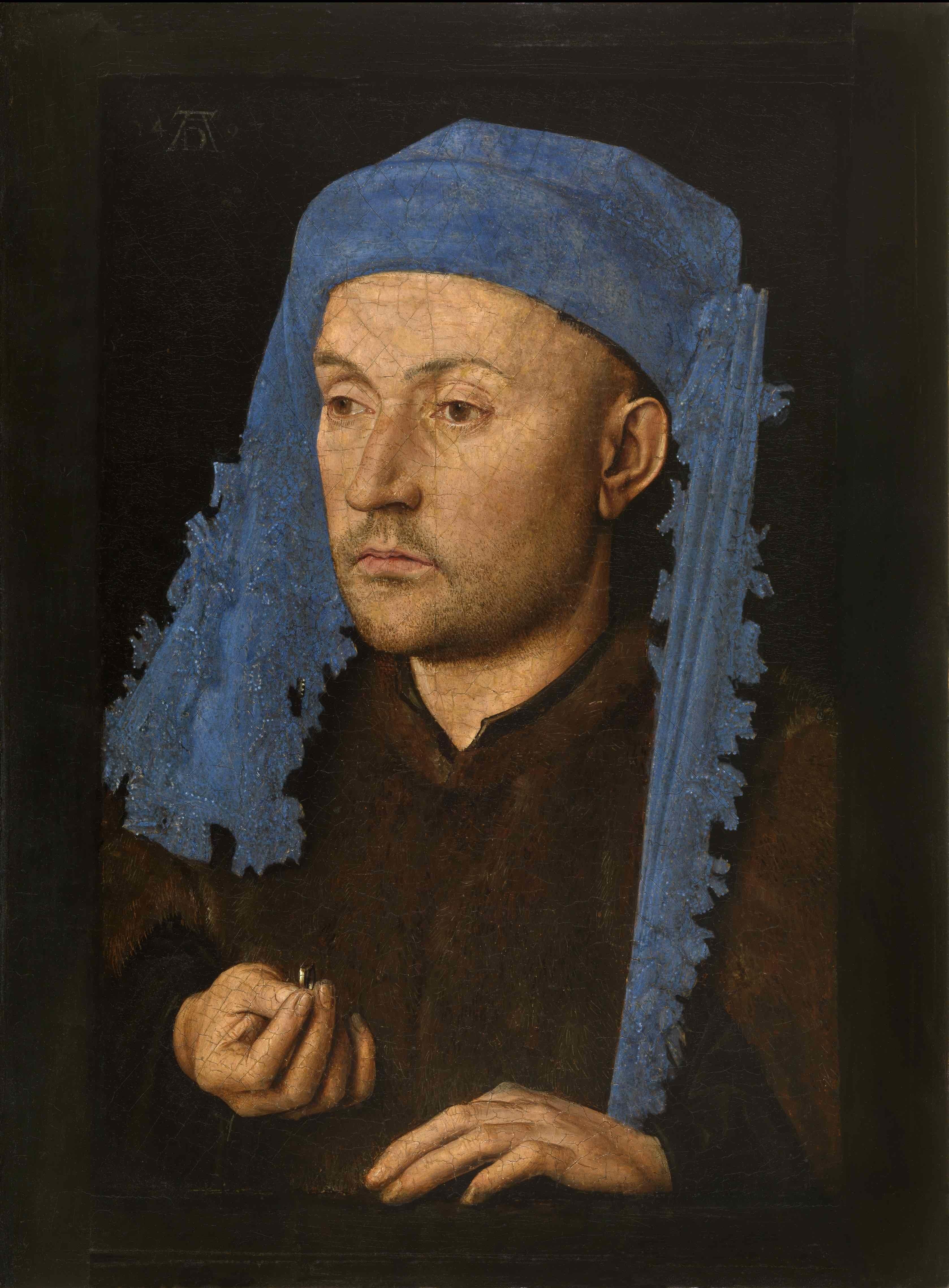 05 Portret van een man met blauwe kaproen