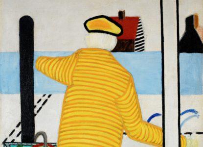 4 Yellow Man with Cart Pour médias sociaux