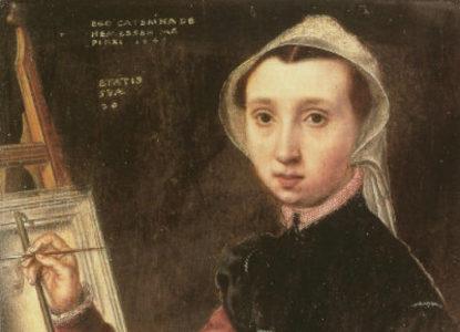HERMESSEN CATHERINA van zelfportret art salon holland
