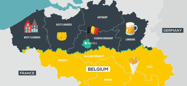 Map Languages Spoken in Belgium